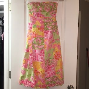 Lilly Pulitzer Patchwork Midi Dress
